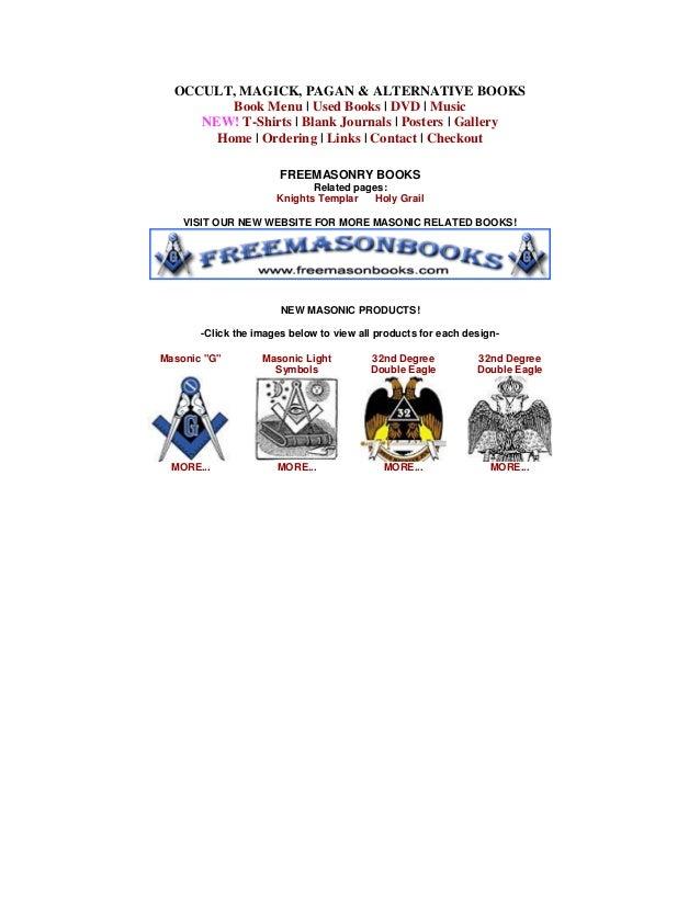 Freemasonry 252 masonic books occult fandeluxe Images