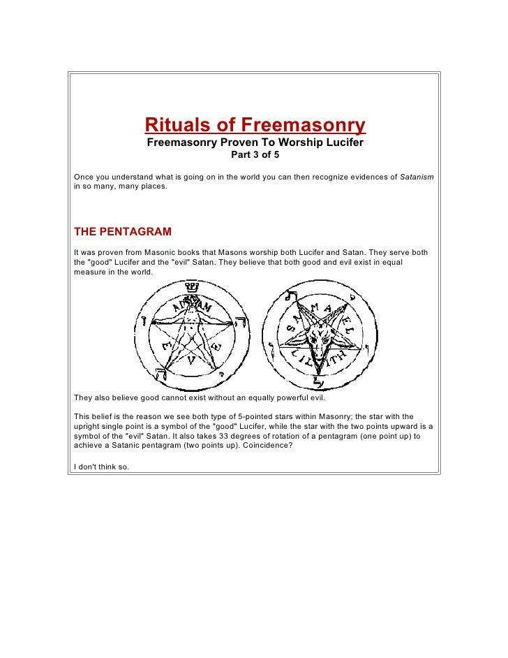 Rituals of Freemasonry                     Freemasonry Proven To Worship Lucifer                                          ...