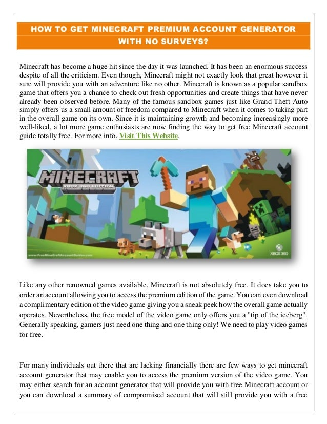 how to get a free minecraft account no download