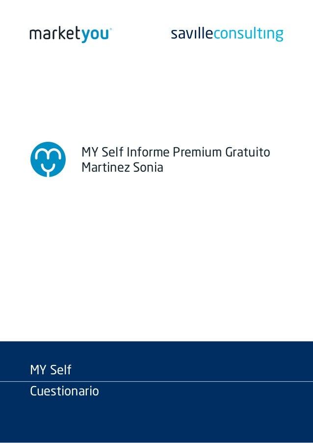 MY Self Informe Premium Gratuito Martinez Sonia MY Self Cuestionario
