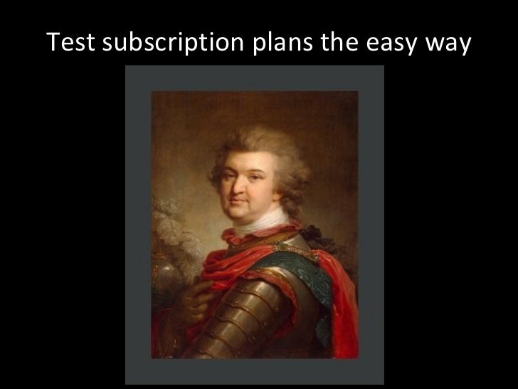 Test subscription plans the easy way