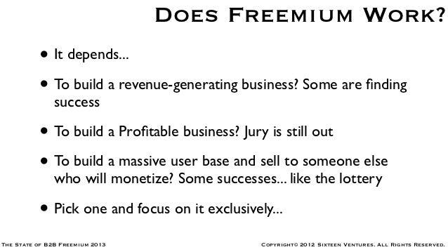 The State of B2B Freemium 2013 Slide 3