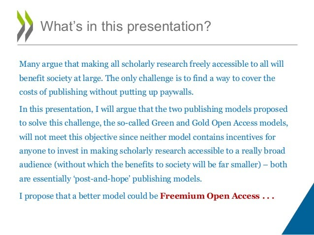 Freemium open access publishing   learning to let go Slide 2