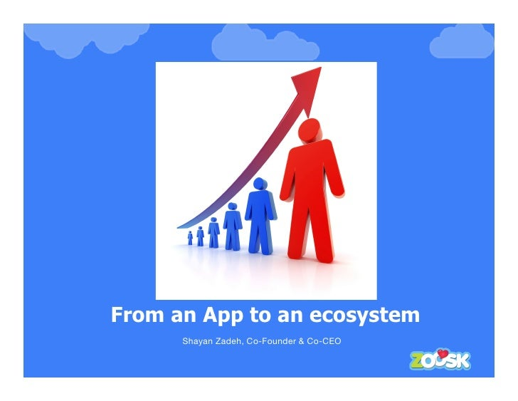 From an App to an ecosystem       Shayan Zadeh, Co-Founder & Co-CEO