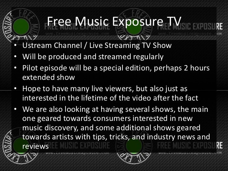 Free Music Exposure TV - Show concept for free music
