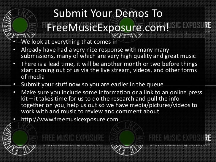 Free Music Exposure TV - Show concept for free music promotion overvi…