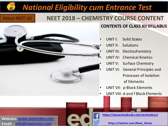 Free neet notes for physics, chemistry and biology download