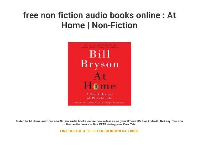 Free Non Fiction Audio Books Online At Home Non Fiction