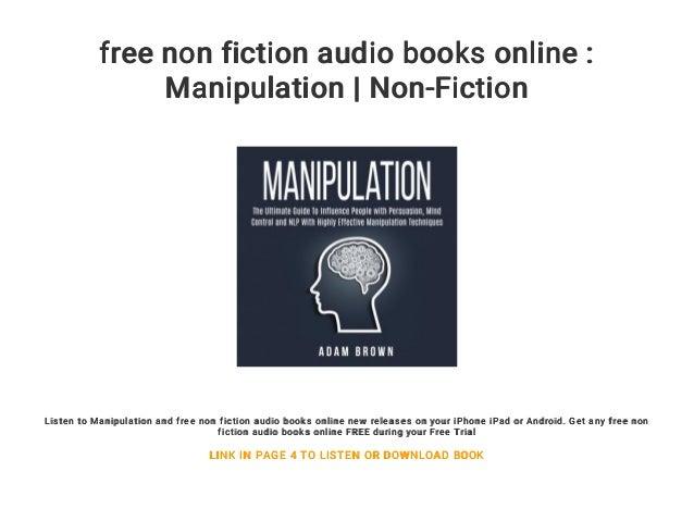 Free Non Fiction Audio Books Online Manipulation Non Fiction