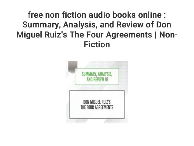 Free Non Fiction Audio Books Online Summary Analysis And Revi