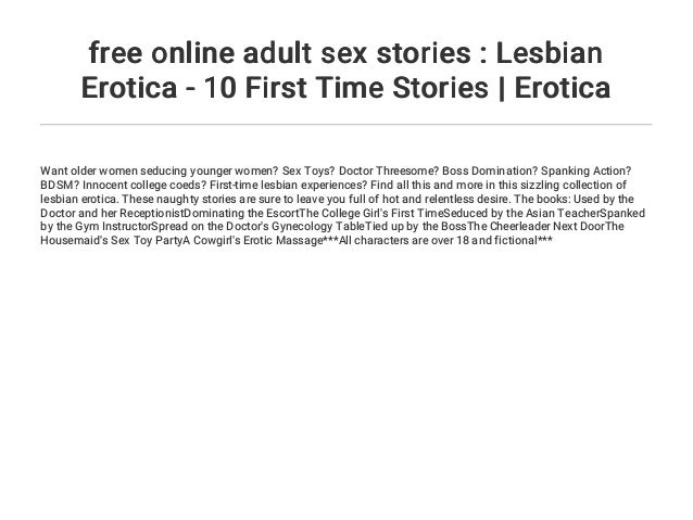 free online adult sex stories : Lesbian Erotica - 10 First Time Stori… - 웹