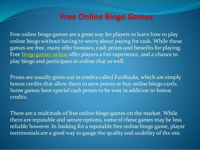 Free bingo prizes cash