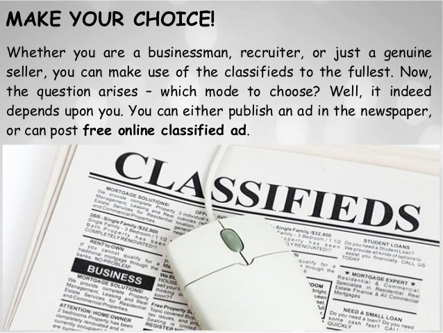 How to Keep Safe While Utilizing Online Classified Advertisement