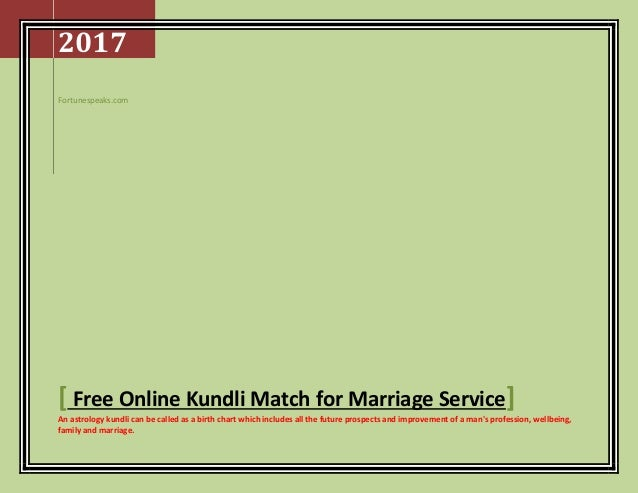 Match making kundli for marriage free