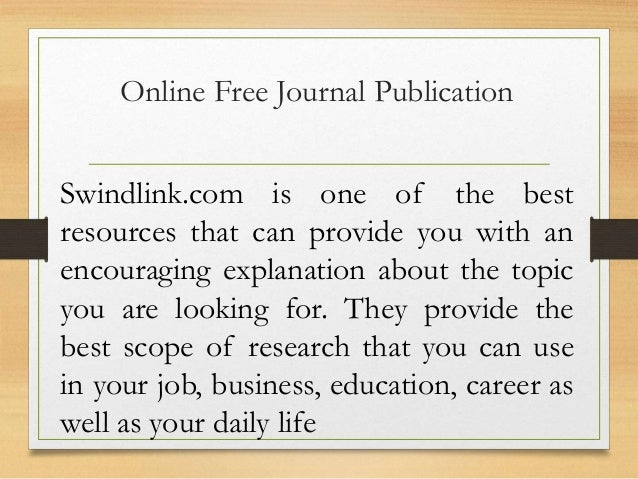 free online journal