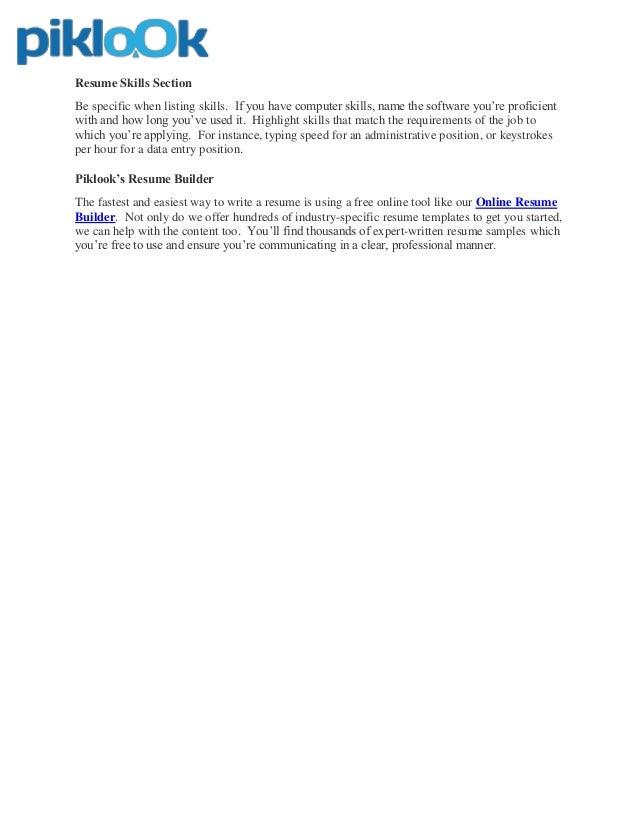 resume builder online