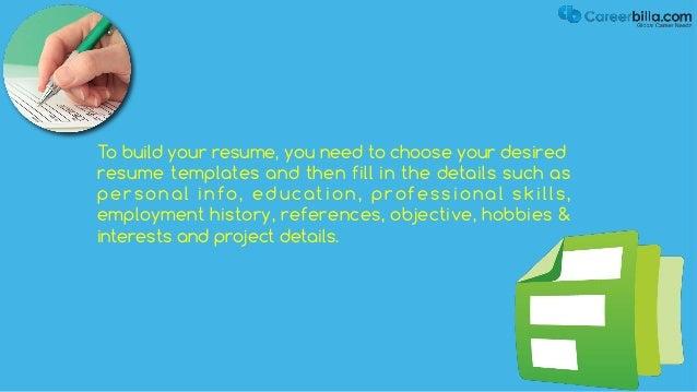 free online resume builder tool