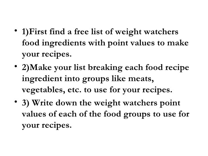 free online weight watcher recipes. Black Bedroom Furniture Sets. Home Design Ideas
