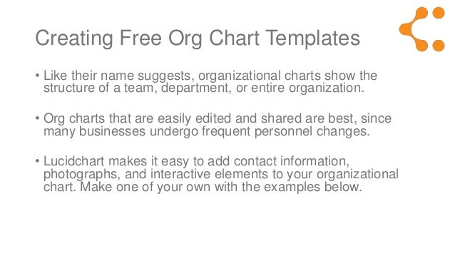 Free organization chart template library