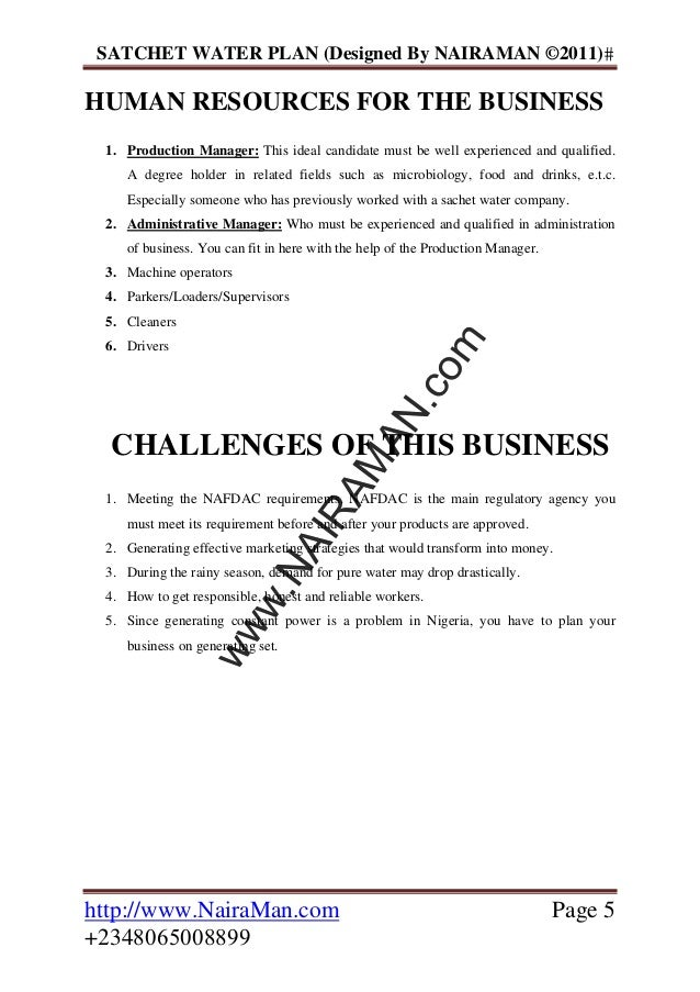 How to Start a Bottled Water Production Company – Business Plan