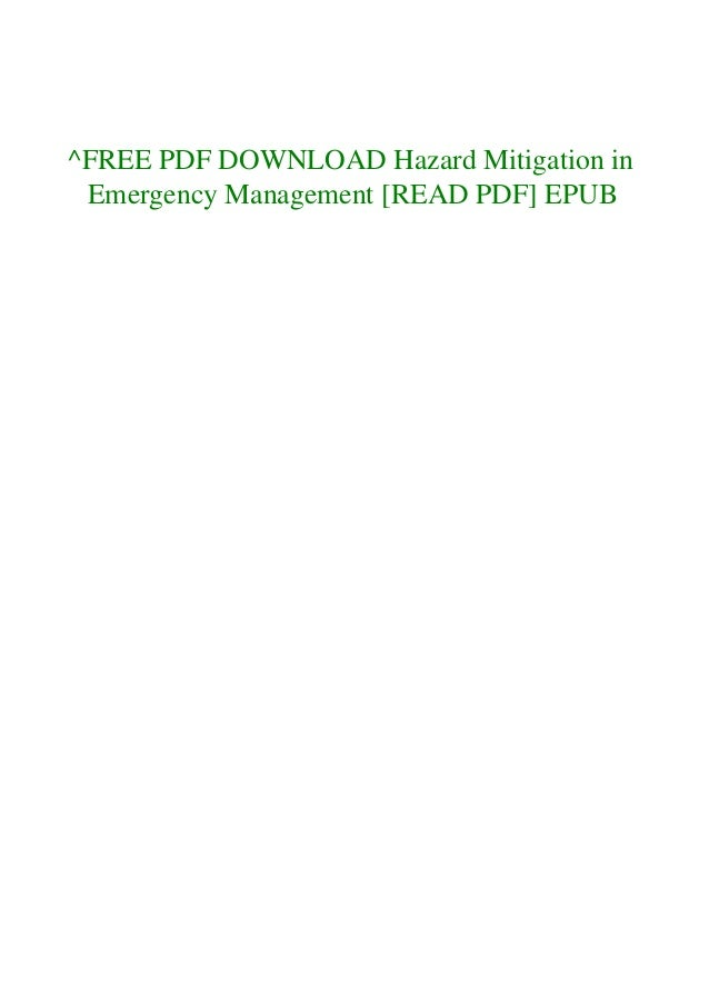 ^FREE PDF DOWNLOAD Hazard Mitigation in Emergency Management [READ PDF] EPUB