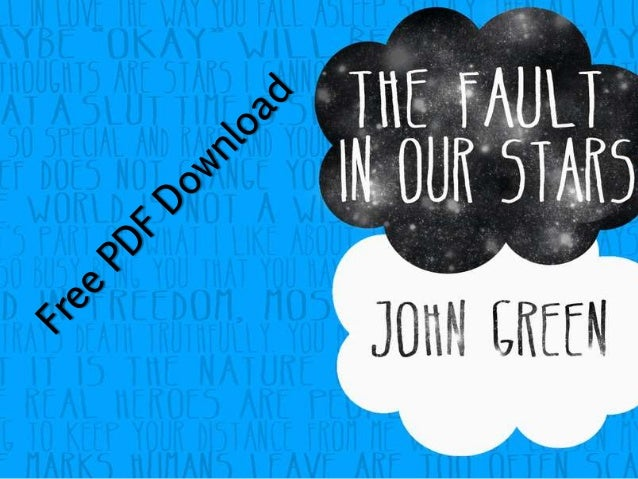 The Fault In Our Stars Pdf Full Book