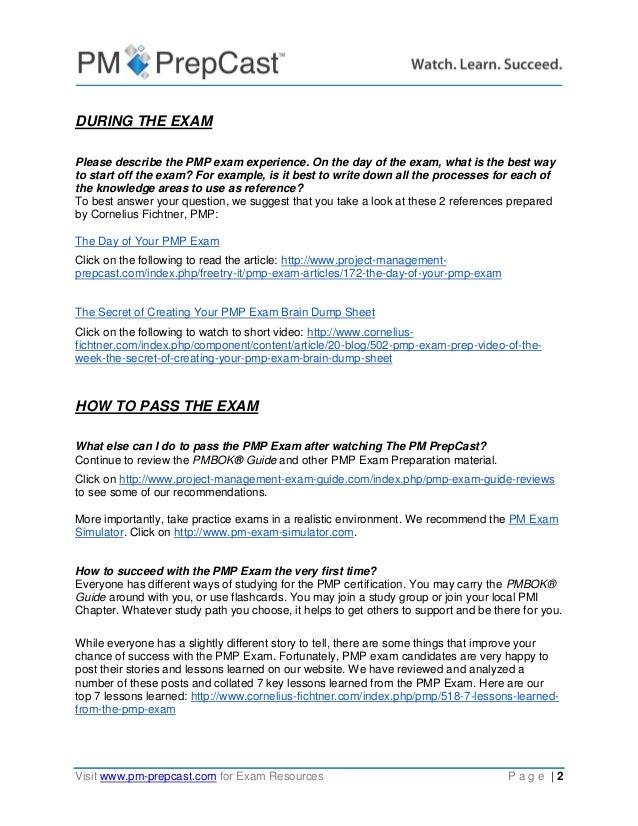 Pmp Exam Qa Webinar Questions