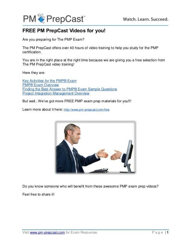 Free Pm Prepcast Videos For You
