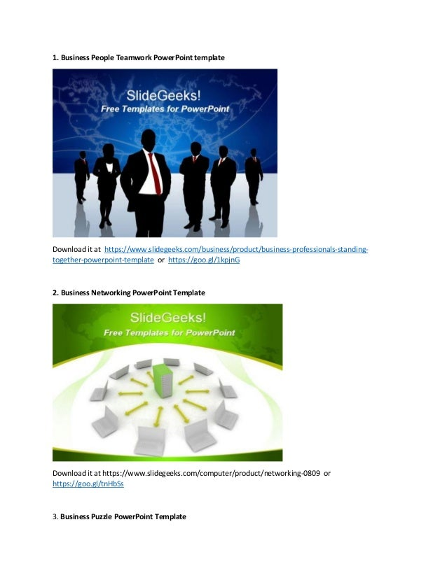 Free powerpoint templates collection business people teamwork powerpoint template download it at https toneelgroepblik Choice Image