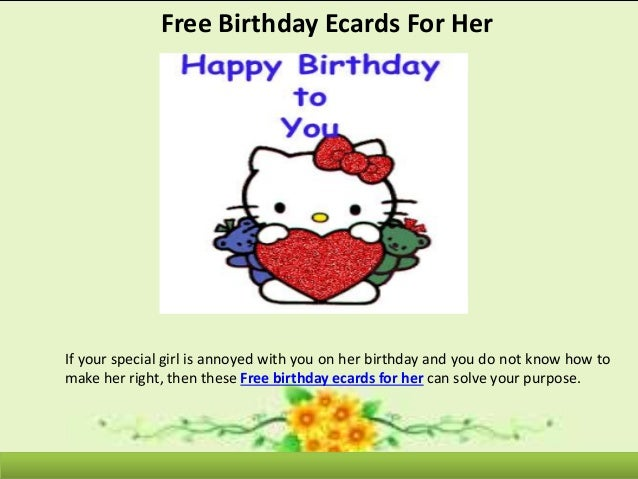 Free Birthday Ecards For Her
