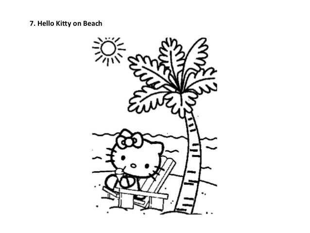 Hello Kitty On Beach
