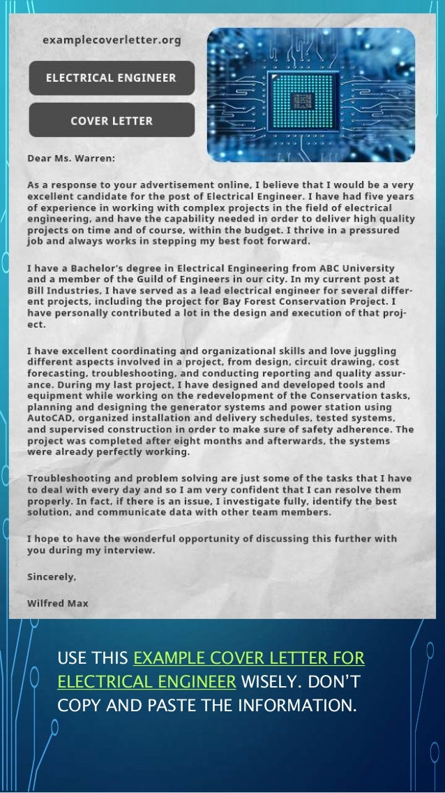 Free professional cover letter examples
