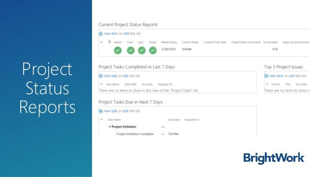 status reports project management