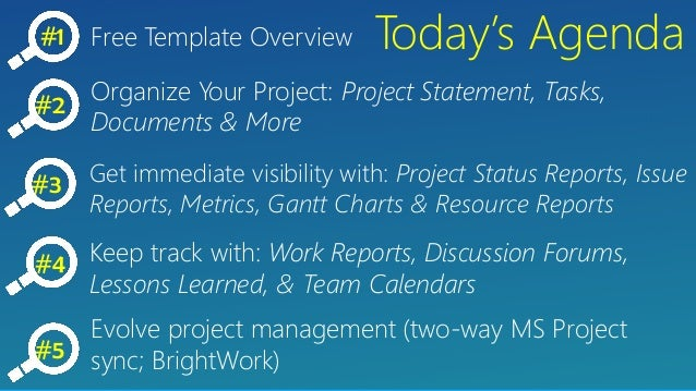 project management free templates