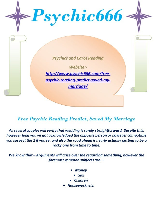 Free psychic reading predict, saved my marriage - 웹