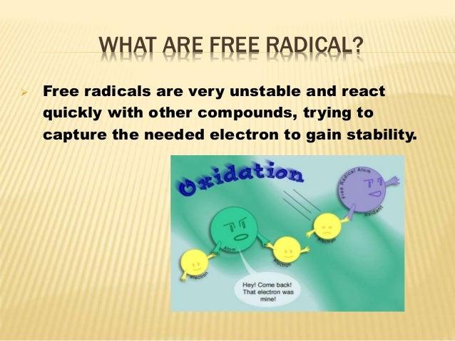 Free redical vs antioxident Slide 2