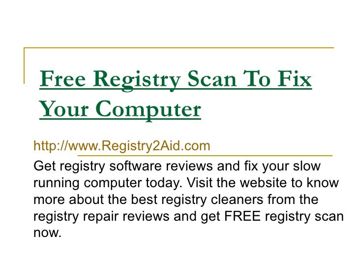 how to clean a computer registry for free