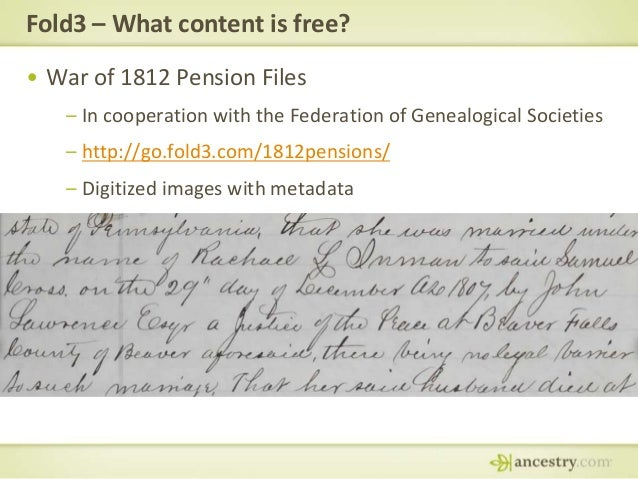 Free Resources on Ancestry com, Fold3, Newspapers com and