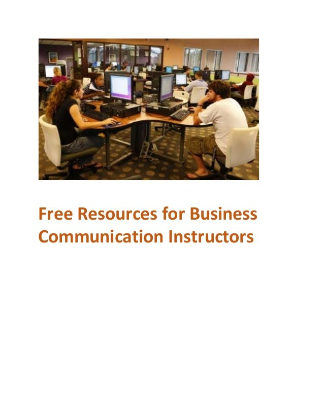 Free Resources for Business Communication Instructors