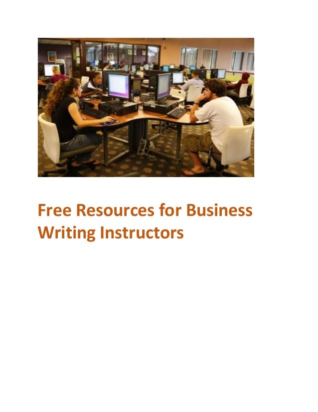 Free Resources for Business Writing Instructors