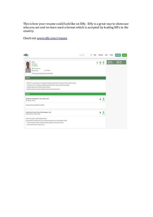Cv Creator Online India
