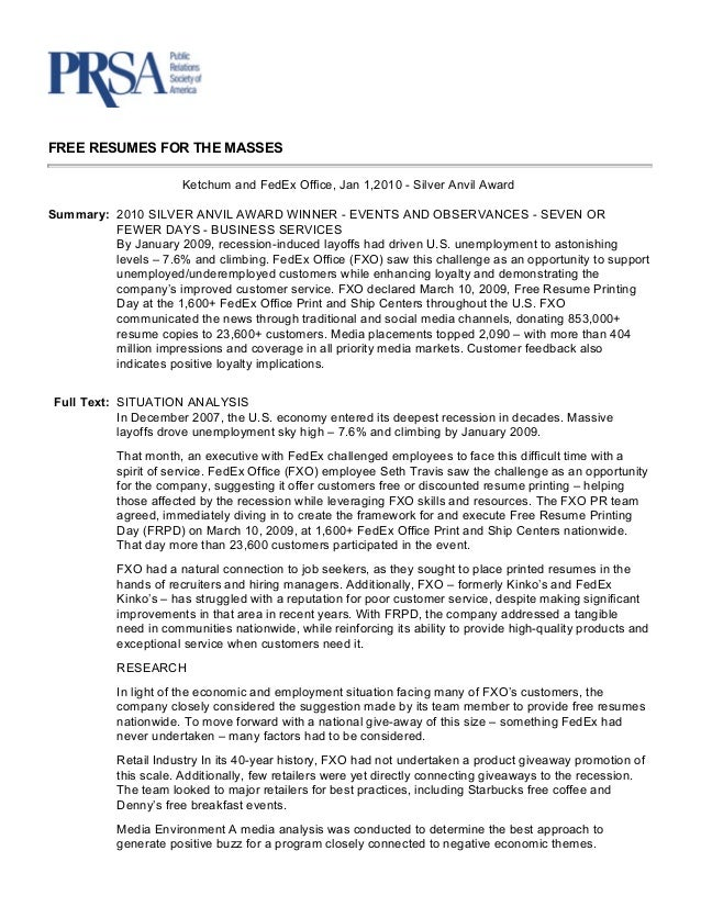 Fedex office free resume printing