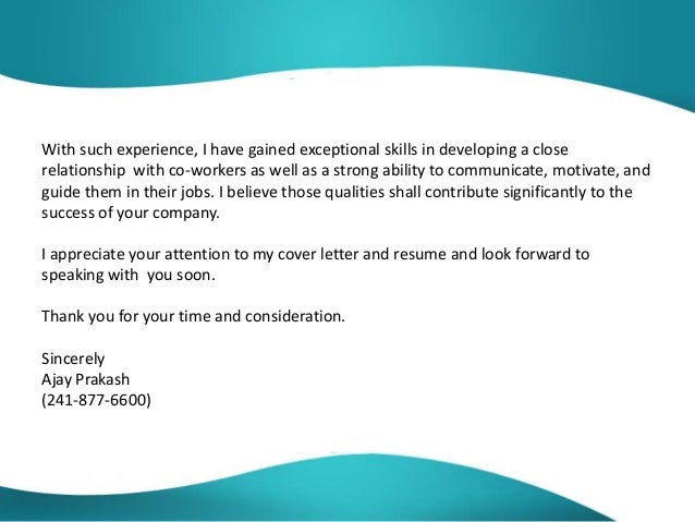 cover letter great
