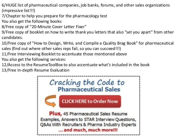 free sample cover letter pharmaceutical
