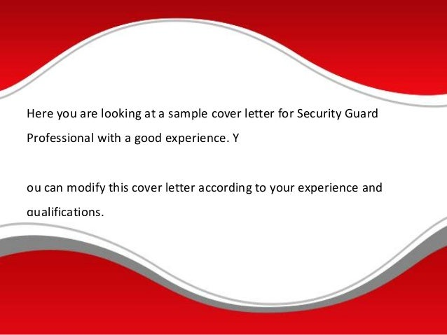 cover letter security guard - Romeo.landinez.co
