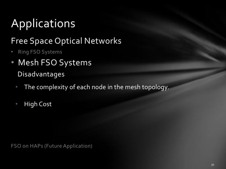 history of free space optics Free-space optics (fso) is a line-of-sight technology that uses lasers to provide optical bandwidth connections currently, fso is capable of up to 25 gbps of data, voice and video communications through the air, allowing optical connectivity without requiring fiber-optic cable or securing spectrum licenses.