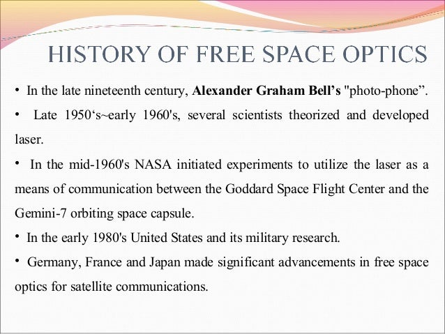 Wt7001/free space optical communication ppt download.