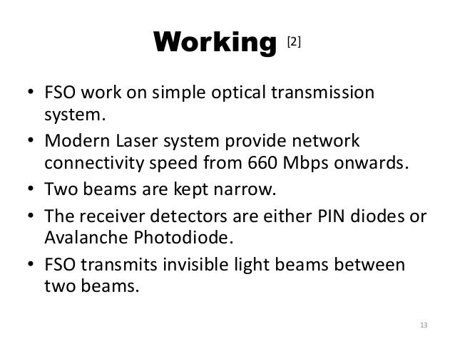 Free space optical communication ppt.