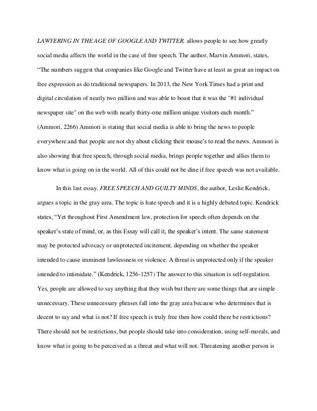 should hate speech be protected essay