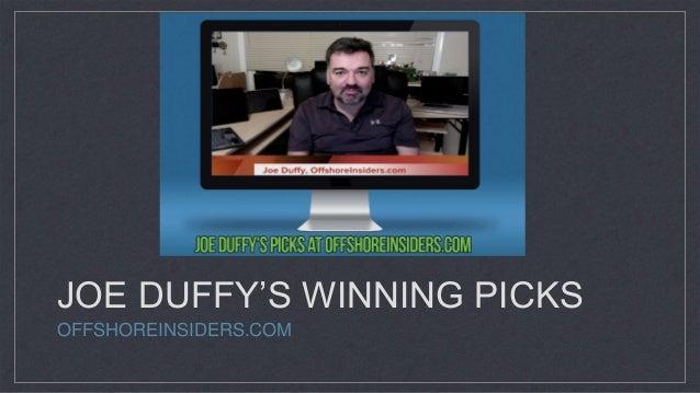 JOE DUFFY'S WINNING PICKS OFFSHOREINSIDERS.COM